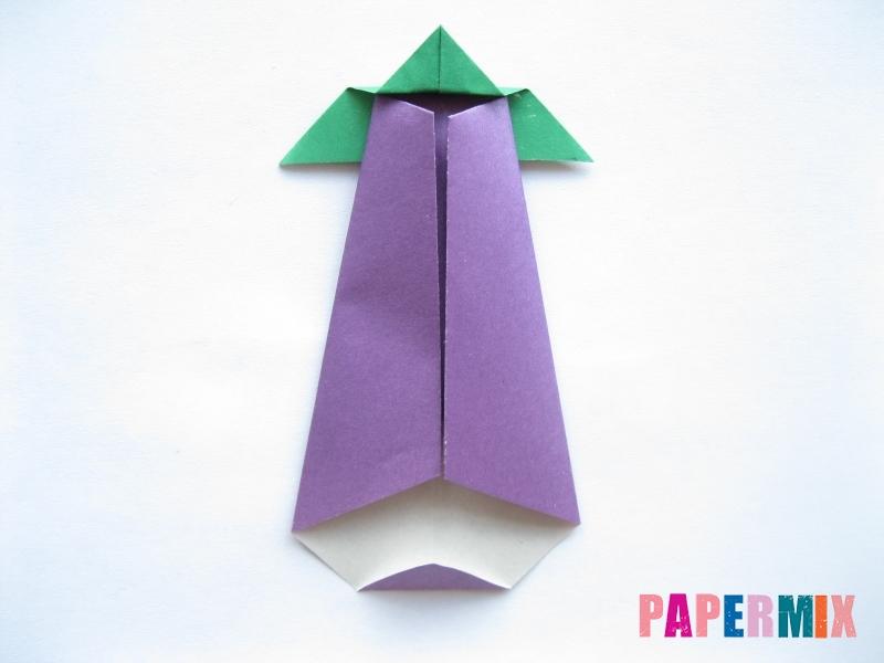 Как сделать баклажан из бумаги (оригами) своими руками - шаг 19