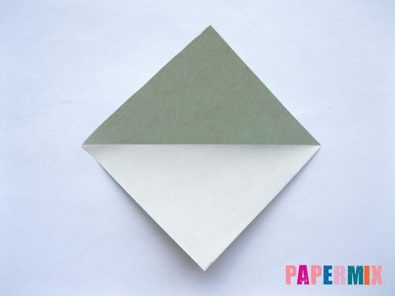 Как сделать баклажан из бумаги (оригами) своими руками - шаг 2