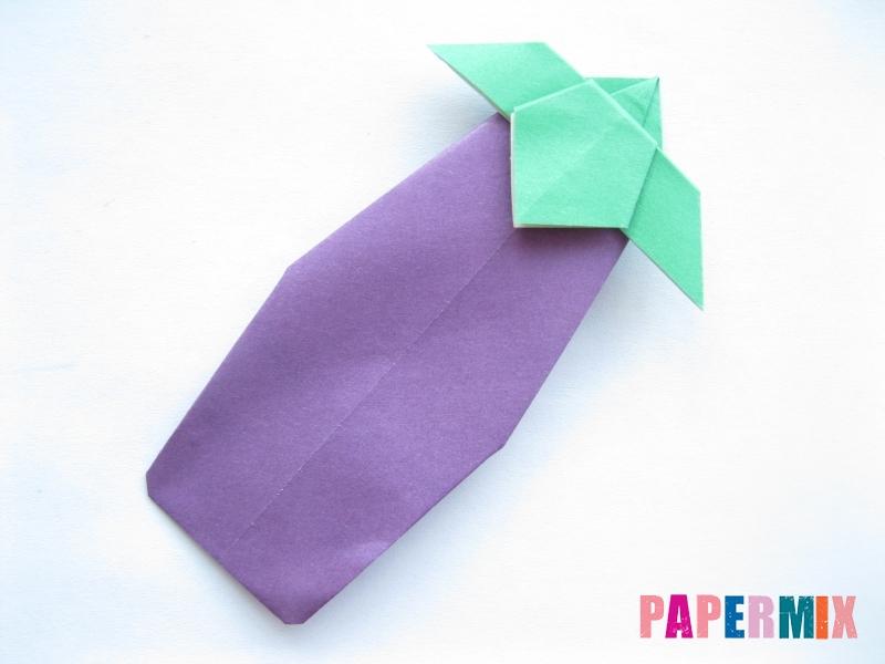 Как сделать баклажан из бумаги (оригами) своими руками - шаг 21