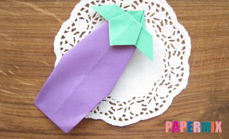 Как сделать баклажан из бумаги в технике оригами своими руками