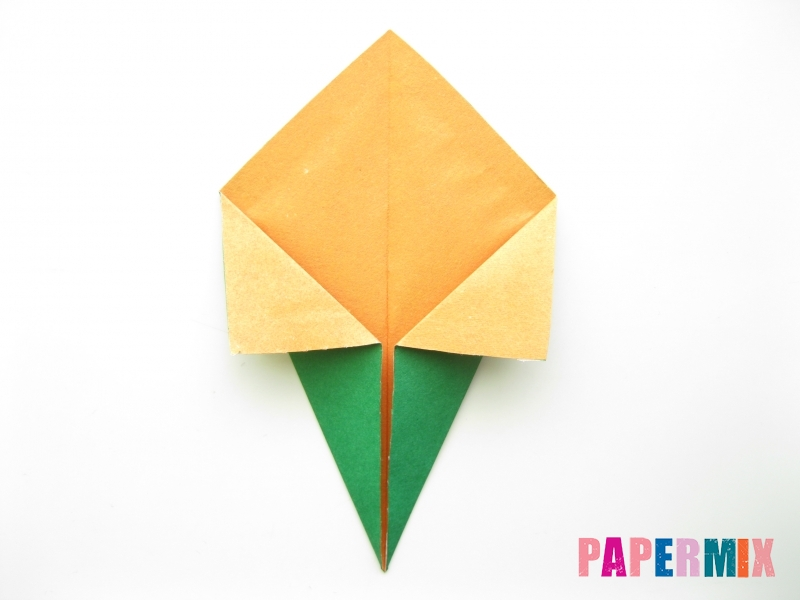 Как сделать кукурузу из бумаги (оригами) своими руками - шаг 4