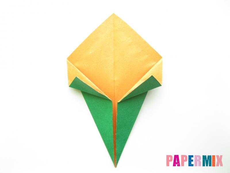 Как сделать кукурузу из бумаги (оригами) своими руками - шаг 5