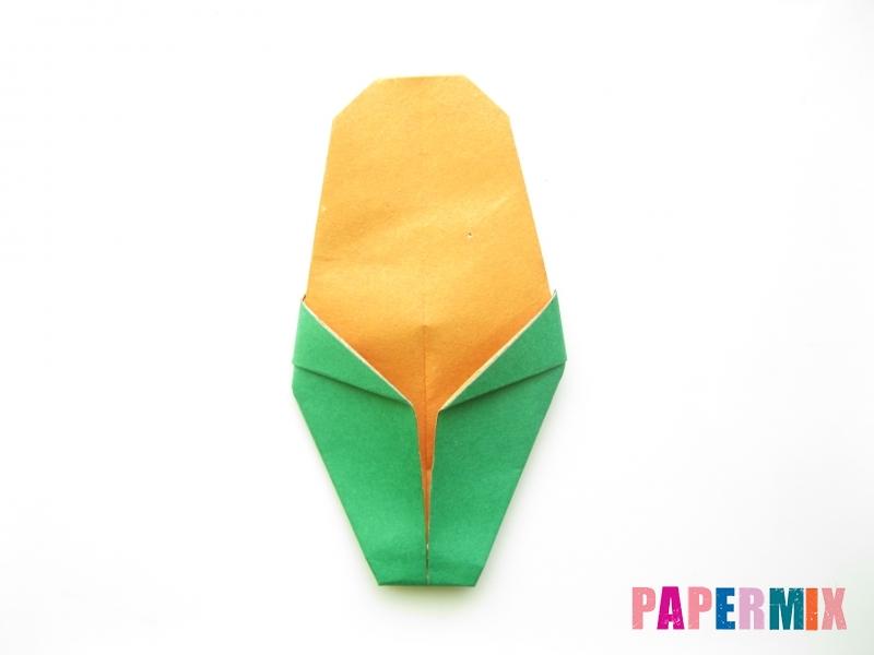 Как сделать кукурузу из бумаги (оригами) своими руками - шаг 8