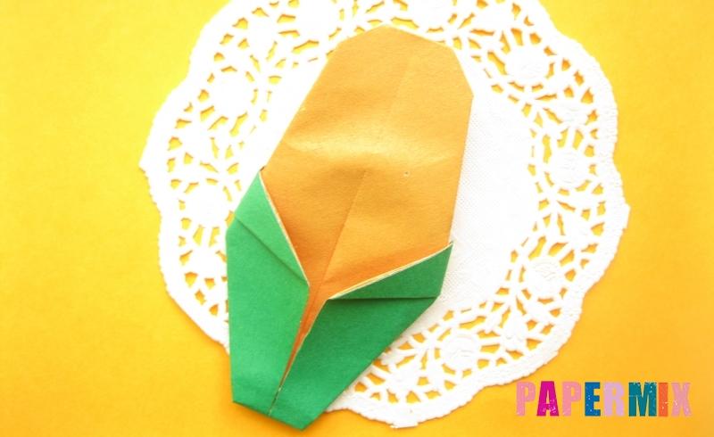 Как сделать кукурузу из бумаги в технике оригами своими руками
