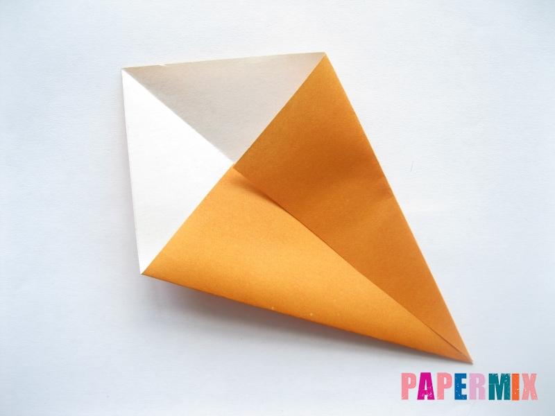 Как сделать морковку из бумаги (оригами) своими руками - шаг 4
