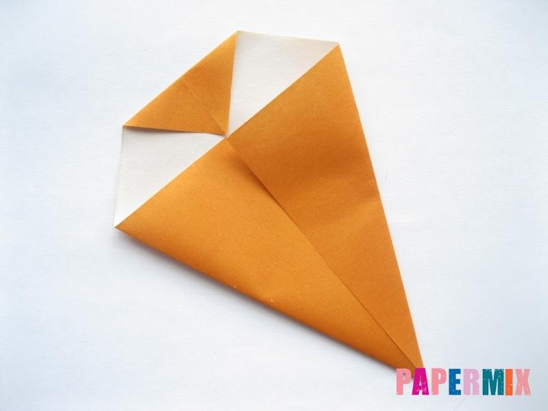 Как сделать морковку из бумаги (оригами) своими руками - шаг 5