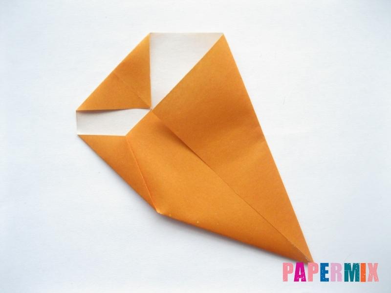 Как сделать морковку из бумаги (оригами) своими руками - шаг 6