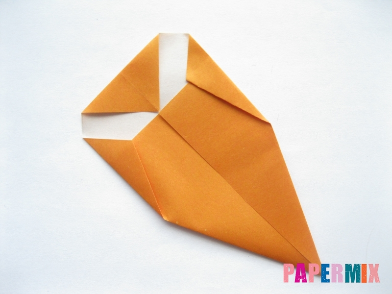 Как сделать морковку из бумаги (оригами) своими руками - шаг 7