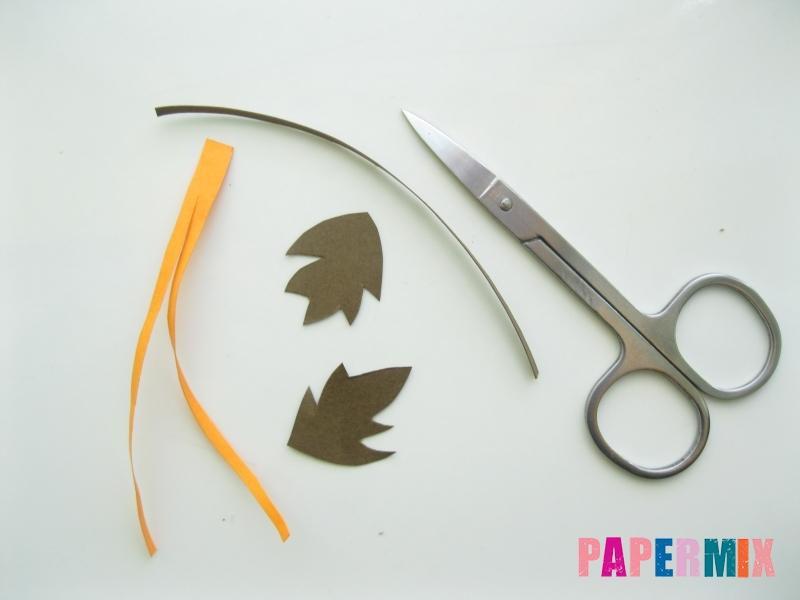 Как сделать объемную тыкву из бумаги своими руками - шаг 8