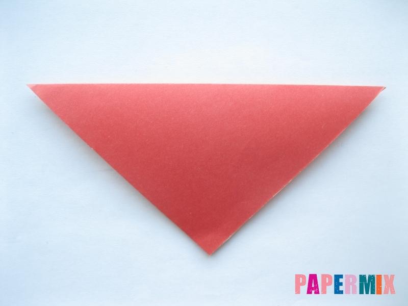 Как сделать помидор из бумаги (оригами) своими руками - шаг 1