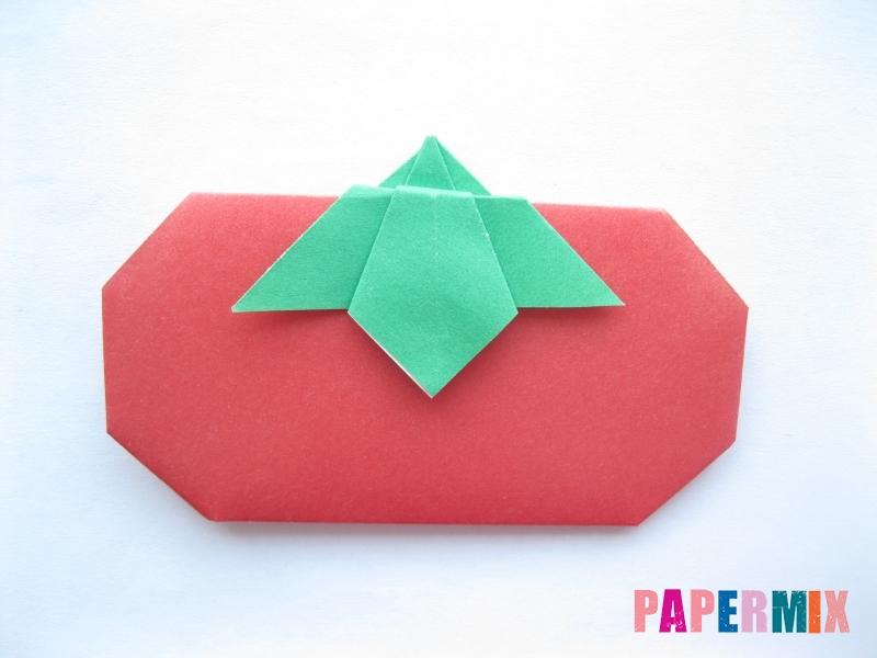 Как сделать помидор из бумаги (оригами) своими руками - шаг 16