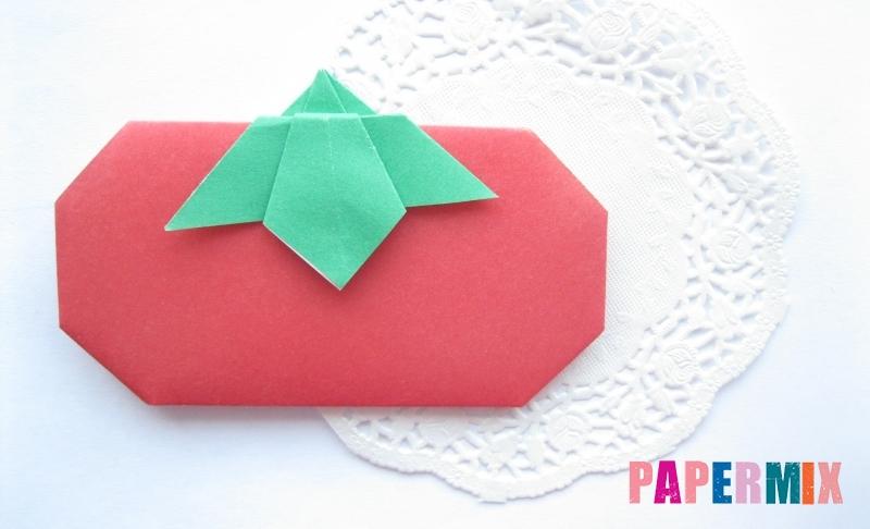 Как сделать помидор из бумаги в технике оригами своими руками