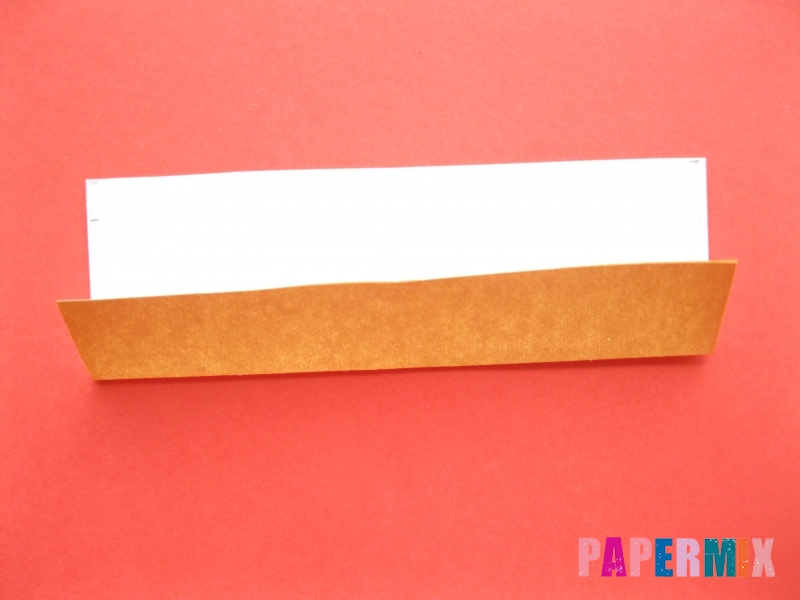 Как сделать пончик из бумаги (оригами) своими руками - шаг 3