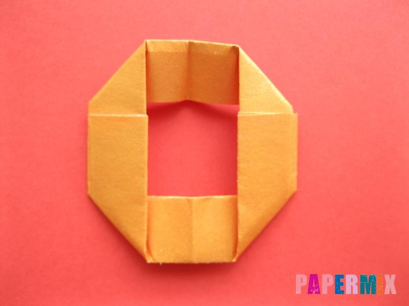 Как сделать пончик из бумаги (оригами) своими руками - шаг 6