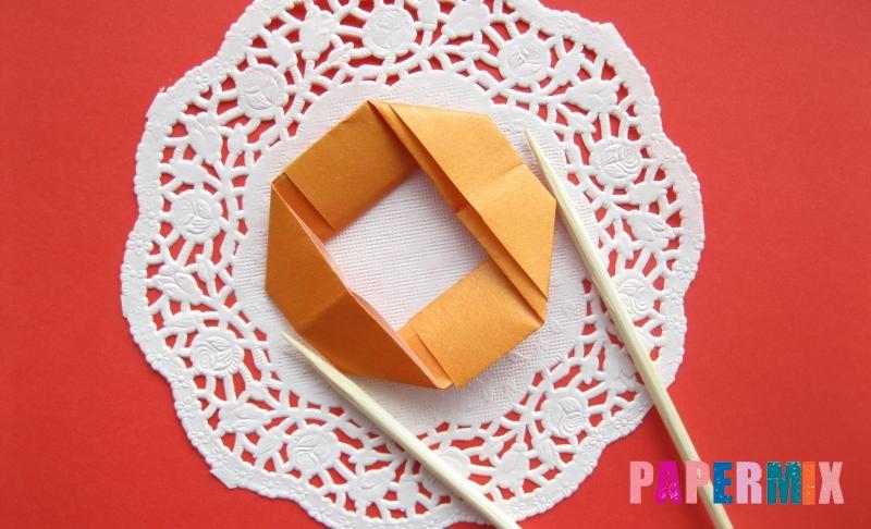 Как сделать пончик из бумаги в технике оригами своими руками