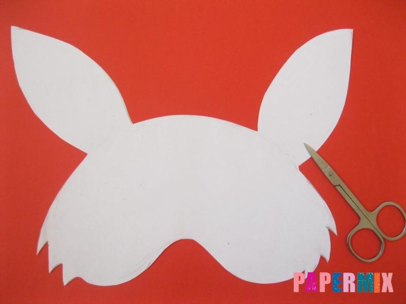 Как просто сделать маску зайца из бумаги своими руками - шаг 2