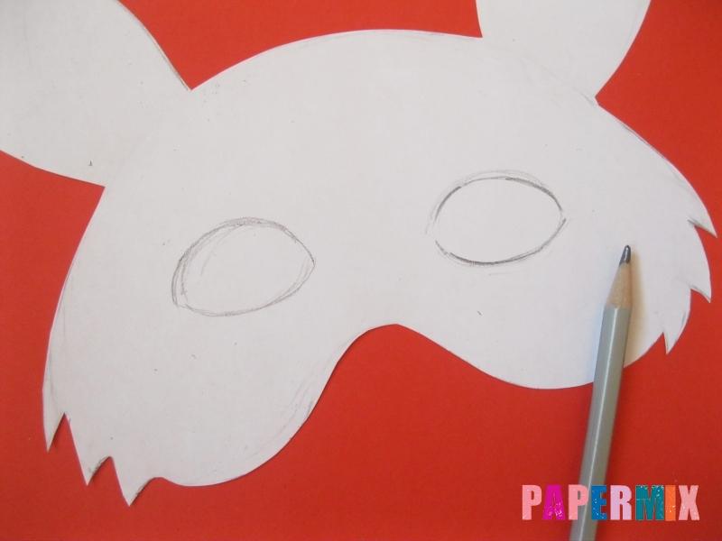 Как просто сделать маску зайца из бумаги своими руками - шаг 3