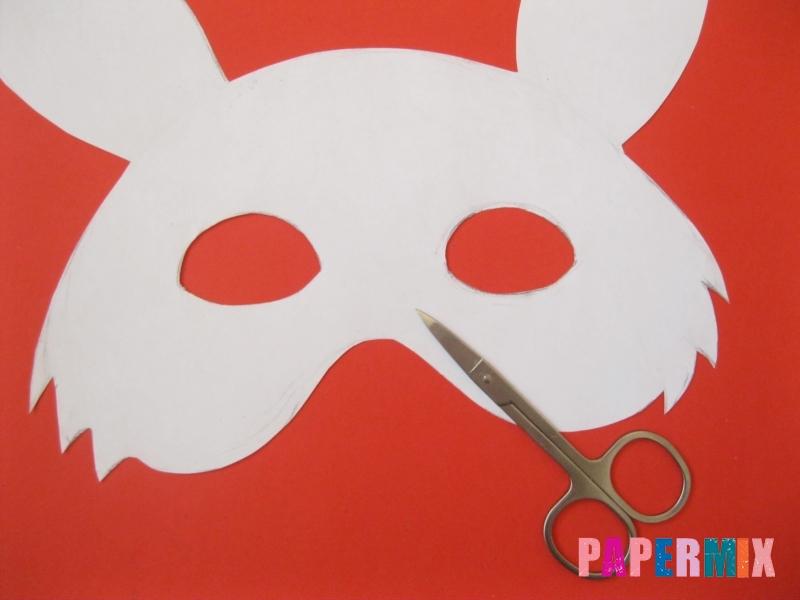 Как просто сделать маску зайца из бумаги своими руками - шаг 4