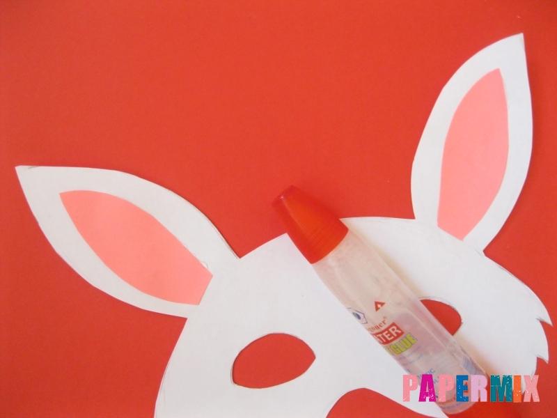 Как просто сделать маску зайца из бумаги своими руками - шаг 5