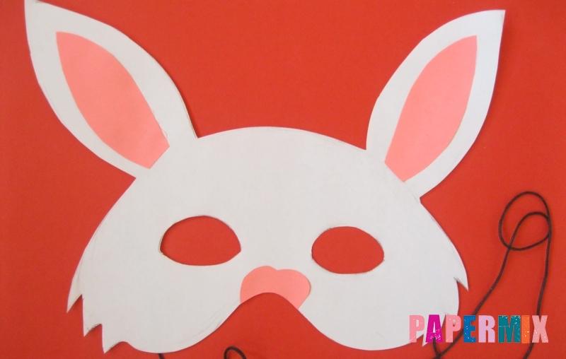 Как просто сделать маску зайца из бумаги своими руками поэтапно