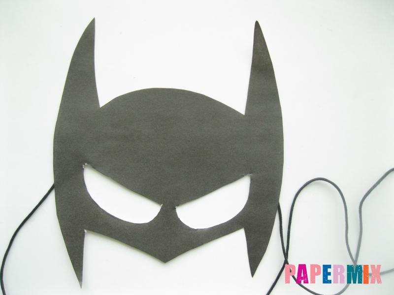 Как сделать из бумаги маску чёрную