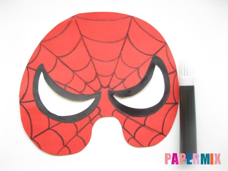 Как сделать маску человека паука из бумаги поэтапно - шаг 6
