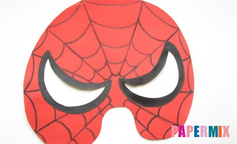 Как сделать маску человека паука из бумаги своими руками поэтапно