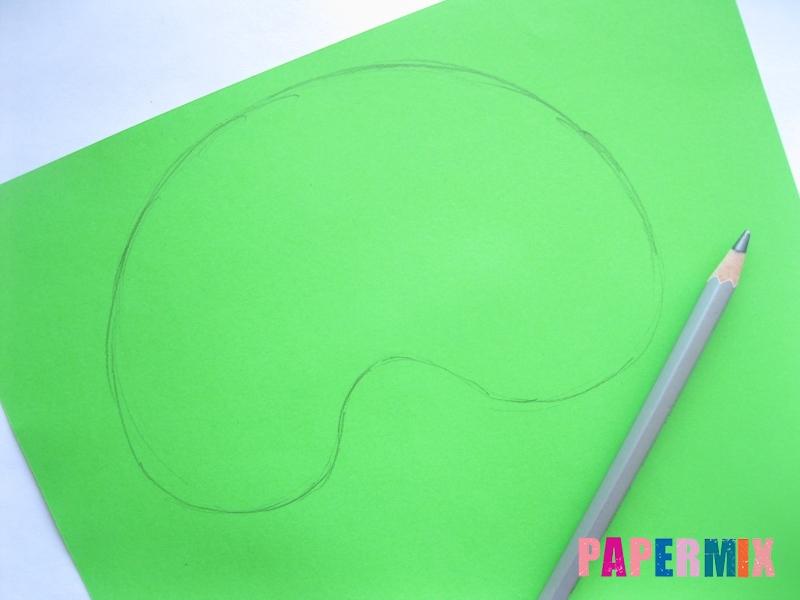 Как сделать маску черепашки ниндзя из бумаги поэтапно - шаг 1