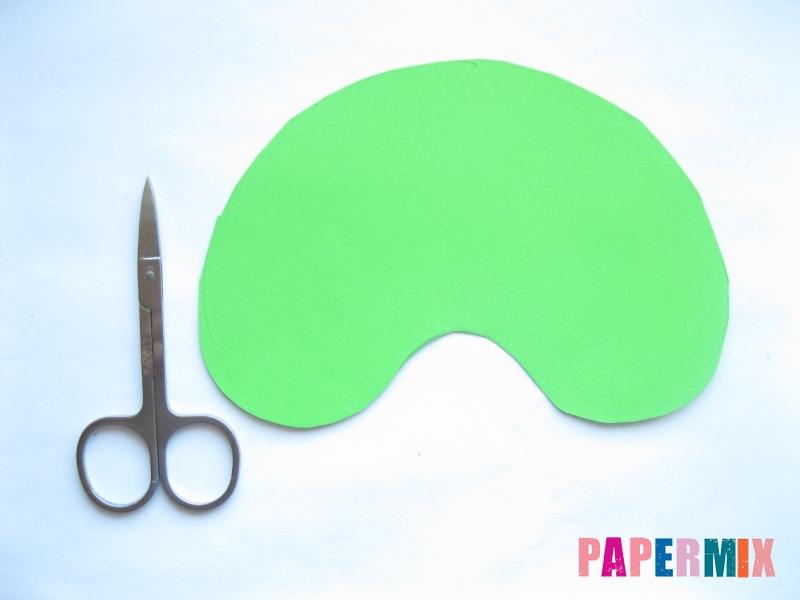 Как сделать маску черепашки ниндзя из бумаги поэтапно - шаг 2