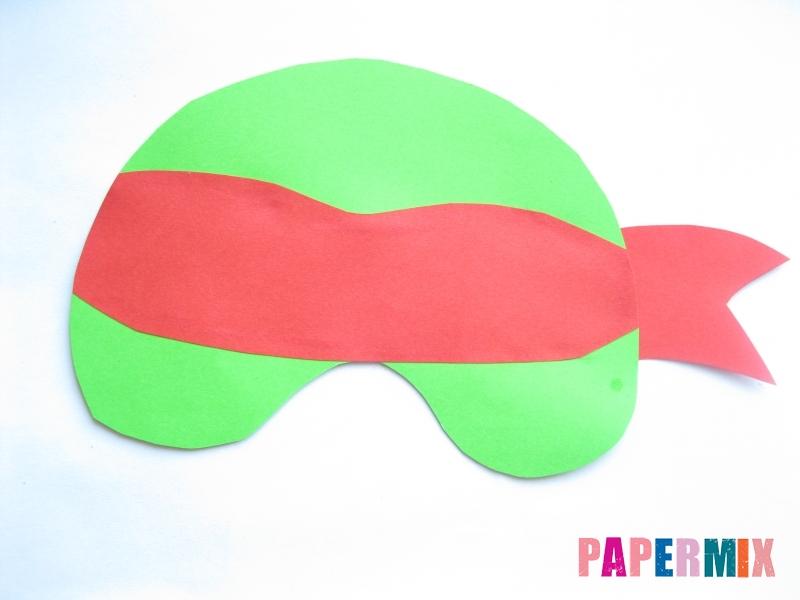 Как сделать маску черепашки ниндзя из бумаги поэтапно - шаг 6