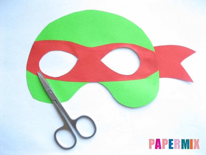 Как сделать маску черепашки ниндзя из бумаги поэтапно - шаг 7