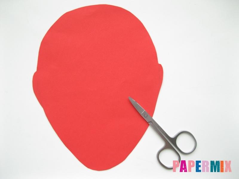 Как сделать маску Дедпула из бумаги своими руками - шаг 1