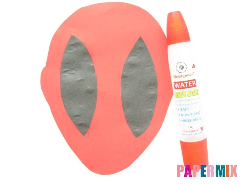 Как сделать маску Дедпула из бумаги своими руками - шаг 3