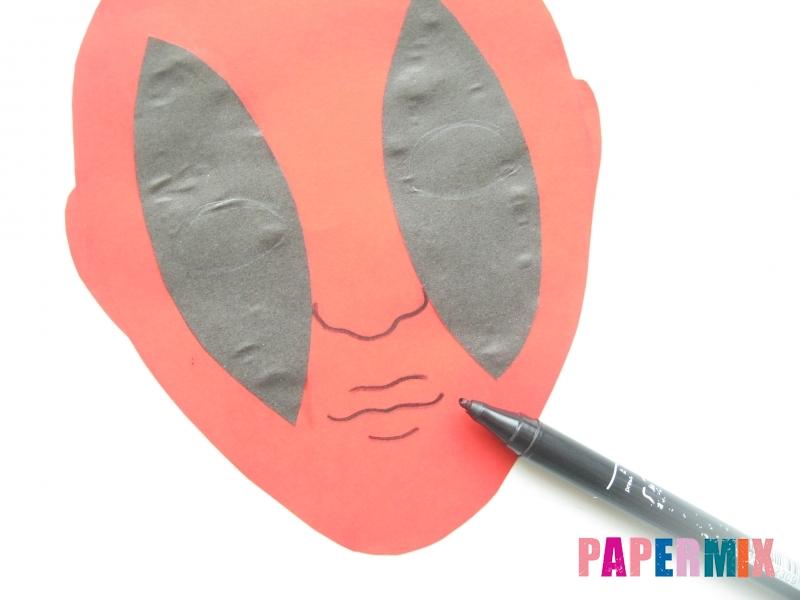 Как сделать маску Дедпула из бумаги своими руками - шаг 5