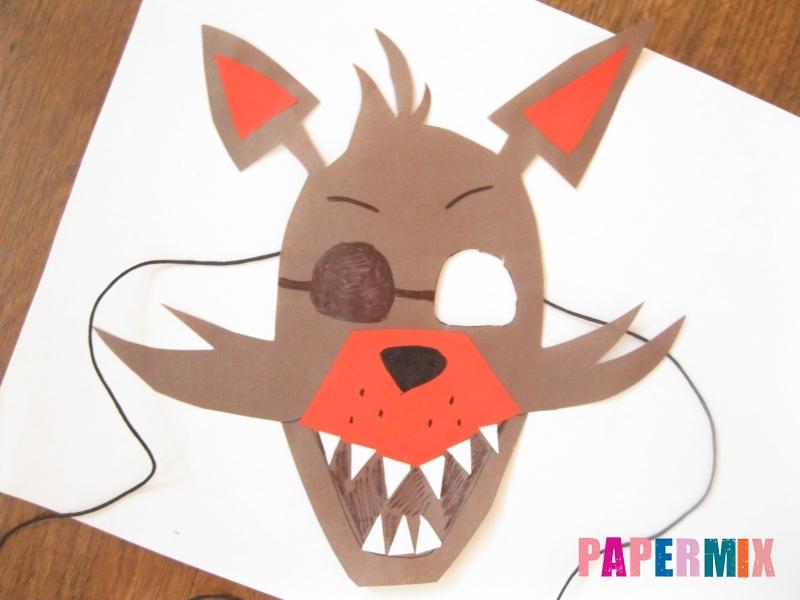 Как сделать маску Фокси из бумаги поэтапно - шаг 11