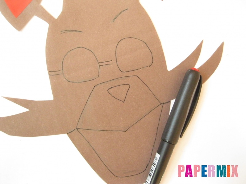 Как сделать маску Фокси из бумаги поэтапно - шаг 4