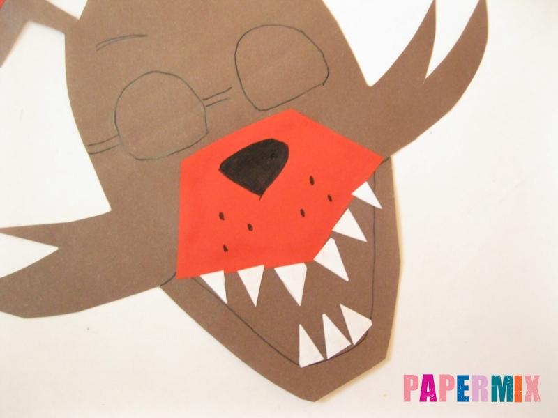 Как сделать маску Фокси из бумаги поэтапно - шаг 7