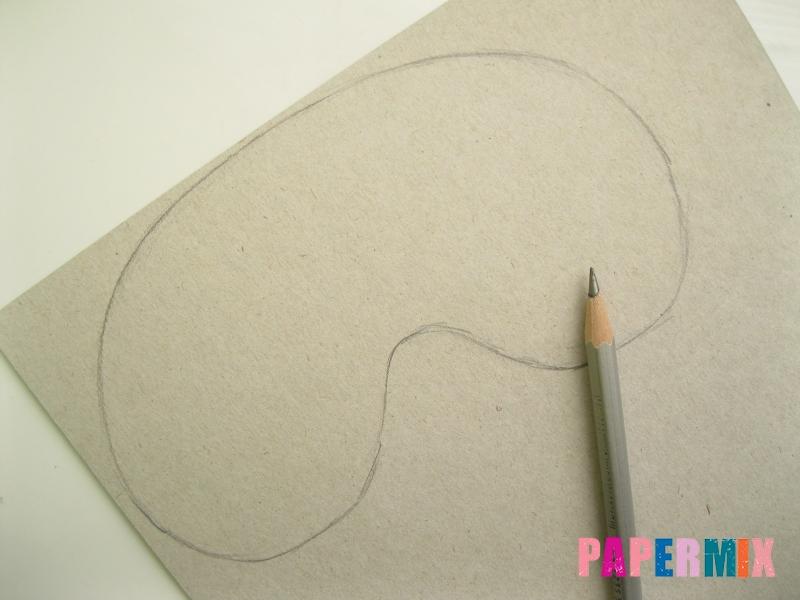 Как сделать маску Халка из бумаги своими руками - шаг 1