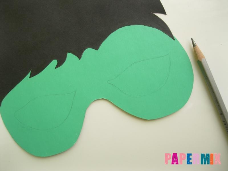 Как сделать маску Халка из бумаги своими руками - шаг 5