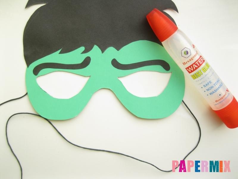 Как сделать маску Халка из бумаги своими руками - шаг 9
