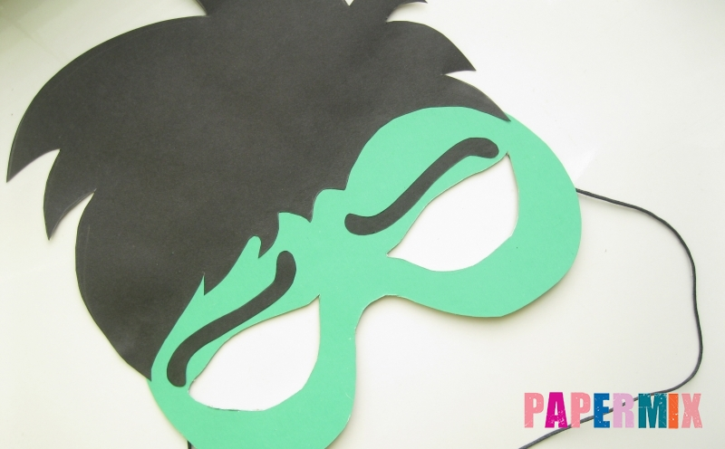 Как сделать из бумаги легкую маску 76