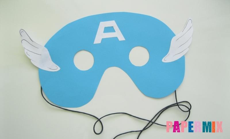 Как сделать маску Капитана Америки из бумаги своими руками поэтапно