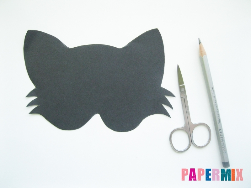 Как сделать маску кошки из бумаги инструкция + видео - шаг 1