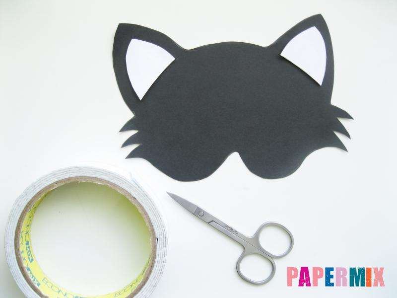Как сделать маску кошки из бумаги инструкция + видео - шаг 2