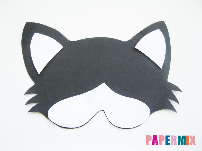Как сделать маску кошки из бумаги инструкция + видео - шаг 3