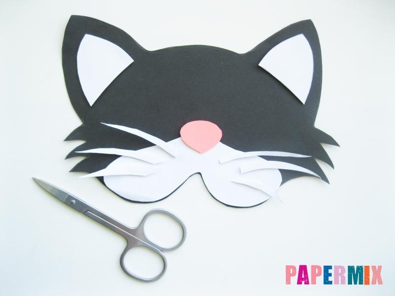Как сделать маску кошки из бумаги инструкция + видео - шаг 5