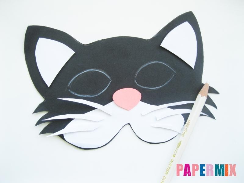 Как сделать маску кошки из бумаги инструкция + видео - шаг 6