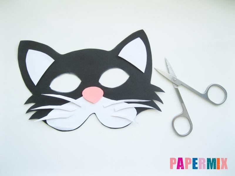 Как сделать маску кошки из бумаги инструкция + видео - шаг 7