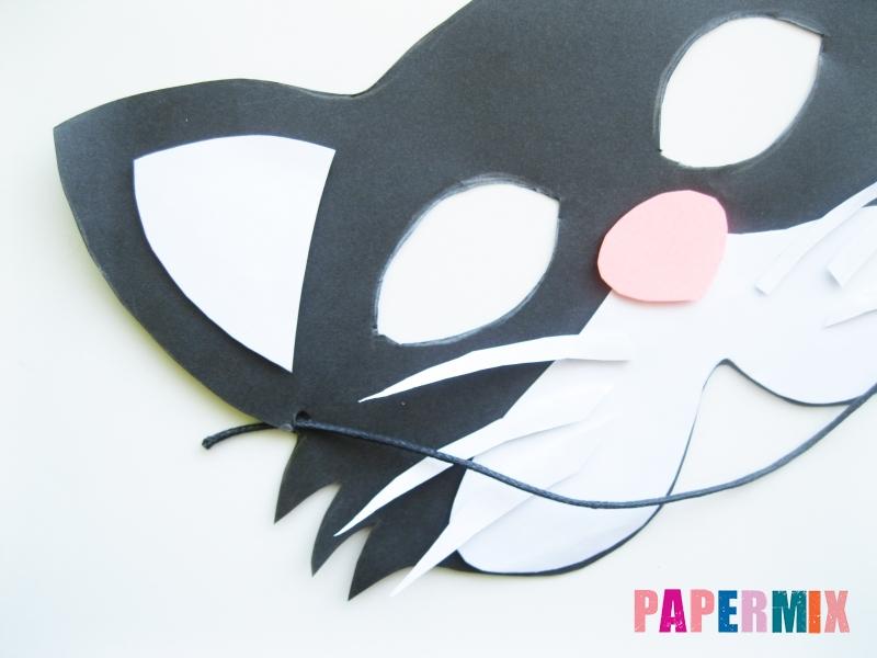 Как сделать маску кошки из бумаги инструкция + видео - шаг 8