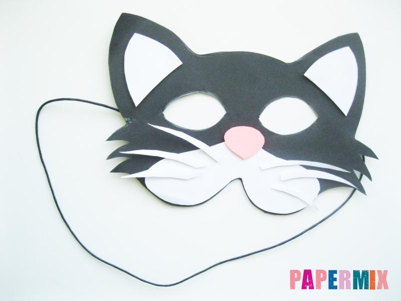 Как сделать маску кошки из бумаги инструкция + видео - шаг 9